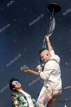 Joe Jonas and Cole Whittle of DNCE