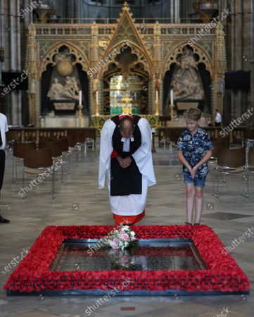 Editorial photo of Princess Beatrice wedding bouquet, Westminster Abbey, London, UK - 17 Jul 2020