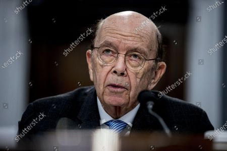 """Commerce Secretary Wilbur Ross testifies before a House Appropriations subcommittee on Capitol Hill, in Washington. A department spokesperson said Saturday, July 18, 2020, that Ross has been hospitalized for """"minor, non-coronavirus related issues"""