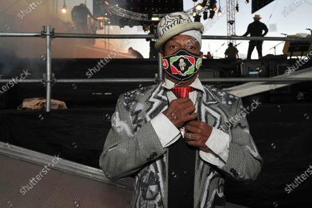 Editorial picture of Concerts in your Car - Ozomatli and Fishbone, Ventura, United States - 18 Jul 2020
