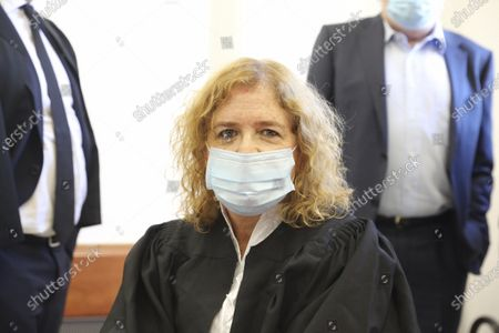 Stock Picture of Liat Ben Ari, plaintiff in the trial against Prime Minister Benjamin Netanyahu is seen in the district court in Jerusalem