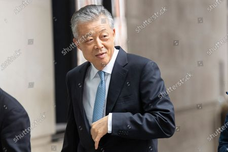 China's Ambassador to the UK Liu Xiaoming arrives at the BBC. Later he will appear on the Andrew Marr Show.