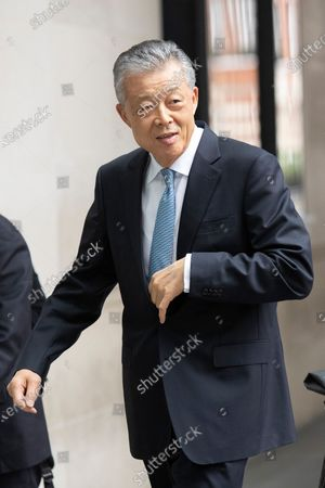 Stock Image of China's Ambassador to the UK Liu Xiaoming arrives at the BBC. Later he will appear on the Andrew Marr Show.
