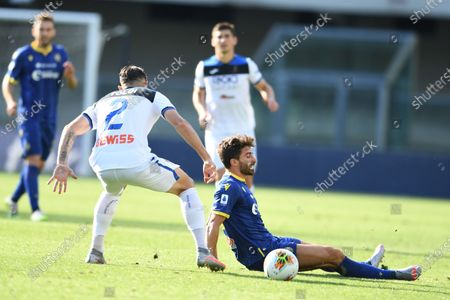 "Fabio Borini (Hellas Verona)Rafael Toloi (Atalanta)                   during the Italian ""Serie A"" match between Hellas Verona 1-1 Atalanta at Marc Antonio Bentegodi Stadium in Verona, Italy."