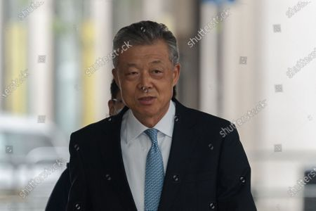 Liu Xiaoming, Chinese ambassador to the UK, arrives at the BBC Broadcasting House in central London