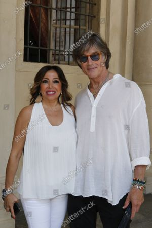 Mirella Rocca casting oragnizer and Ronn Moss during the casting