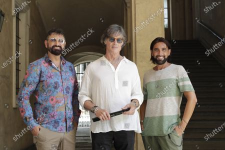 Stock Picture of Ronn Moss (C) with Luca&Max by Poltronissima during the casting