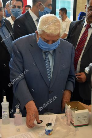 Syrian Foreign Minister Walid al-Moallem casts his vote in the People's Assembly (parliament) elections in Damascus, Syria, 19 July 2020. According to reports, 250 Syrian MPs will be elected by direct vote for a four-year term. A total of 1656 candidates are participating in this election process, including 200 women.