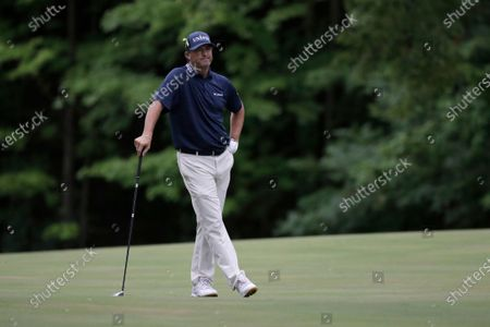 Ryan Palmer stands on the 15th fairway during the final round of the Memorial golf tournament, in Dublin, Ohio