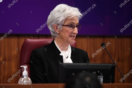 The Honourable Jennifer Coate AO speaks during the COVID-19 Hotel Quarantine Inquiry in Melbourne, Australia, 20 July 2020. The inquiry was instigated by Premier Daniel Andrews after it was revealed protocol breaches by security guards at two Melbourne hotels led to outbreaks.