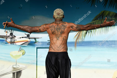 Stock Image of Dennis Rodman is sighted on Hollywood Beach Boardwalk. Broward County is now under nightly curfew to combat the coronavirus. The curfew is in place from 11 p.m. to 5 a.m. daily. The new restrictions come under an emergency order issued Friday afternoon Florida reported more than 12,400 new cases Sunday, bringing the state's total to more than 350,000 on Sunday, in Hollywood Beach, Florida, USA - 19 July 2020