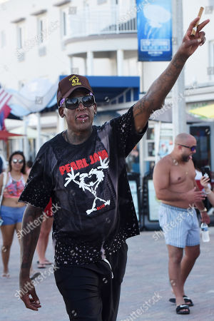 Editorial image of Dennis Rodman out and about, Hollywood, Florida, USA - 19 Jul 2020