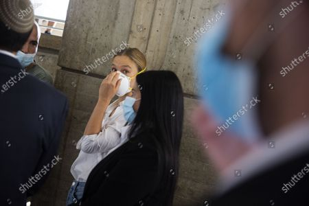 Israeli top model Bar Refaeli wearing a face mask arrives to a court in Tel Aviv, Israel, 20 July 2020. Refaeli signed a plea bargain agreement with authorities to settle a long-standing tax evasion case against her and her family. The deal will require Refaeli to serve nine months of community service while her mother, Zipi, will be sent to prison for 16 months. The two are also ordered to pay a US dollars 1.5 million fine on top of millions of back taxes owed to the state.
