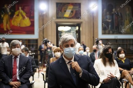 Former Finance Minister and former Eurogroup President, Mario Centeno (C), during his presentation ceremony as the new governor of Portugal Bank, at the Finance Ministery, in Lisbon, Portugal, 20 July 2020. Venteno became the new Governor of the Bank of Portugal.