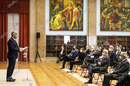 Editorial photo of Presentation ceremony of Former Finance Minister Mario Centeno as new Bank of Portugal governor, Lisbon - 20 Jul 2020