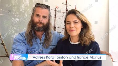 Stock Photo of Kara Tointon and fiance