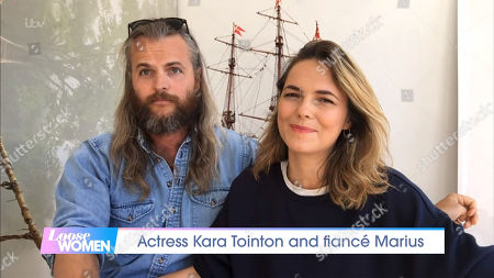Stock Image of Kara Tointon and fiance