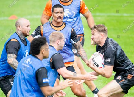 Castleford Tigers' Nathan Massey, Peter Mata'Utia, Danny Richardson & Michael Shenton train at their side's home ground for the first time since the Coronavirus Covid-19 pandemic started.