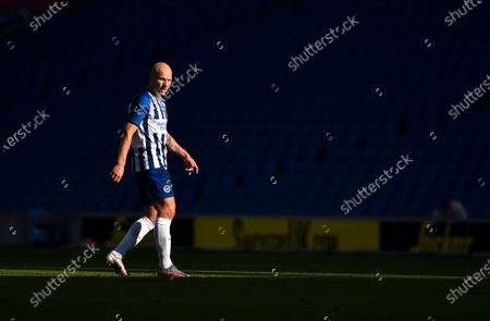 Aaron Mooy of Brighton reacts during the English Premier League soccer match between Brighton & Hove Albion FC vs Newcastle United in Brighton, Britain, 20 July 2020.