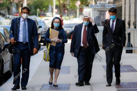 Stock Picture of Former New York Assembly Speaker Sheldon Silver, second from right, leaves U.S. District Court after he was sentenced to 6 1/2 years in prison in the corruption case that drove him from power, in the Manhattan borough of New York. U.S. District Judge Valerie E. Caproni insisted that Silver come to court in person to hear his punishment, rather than appear remotely because of concerns about exposure to the coronavirus
