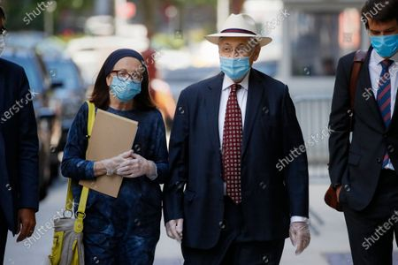 Former New York Assembly Speaker Sheldon Silver, second from right, leaves U.S. District Court after he was sentenced to 6 1/2 years in prison in the corruption case that drove him from power, in the Manhattan borough of New York. U.S. District Judge Valerie E. Caproni in Manhattan insisted that the 76-year-old Democrat come to court in person to hear his punishment, rather than appear remotely because of concerns about exposure to the coronavirus