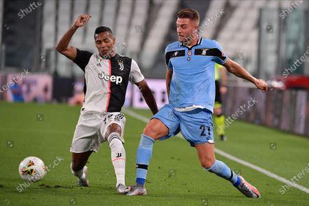 Alex Sandro of Juventus FC, Sergej Milinkovic-Savic of SS Lazio