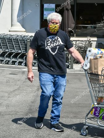Ron Perlman goes grocery shopping in West Hollywood
