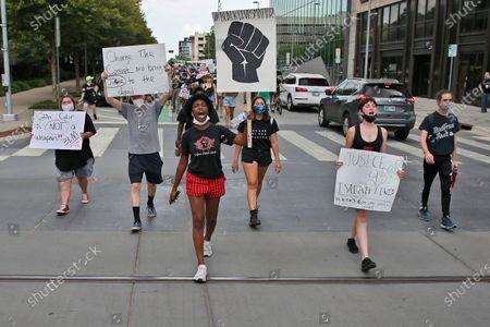 Editorial image of Racial Injustice Oklahoma, Oklahoma City, United States - 20 Jul 2020