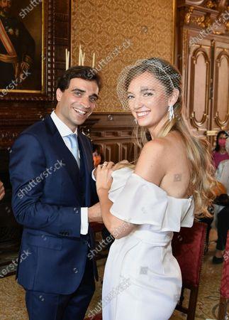 Editorial image of Civil wedding of Archduchess Eleonore Von Habsburg and Jerome d 'Ambrosio -  Monte Carlo, Monaco - 20 Jul 2020