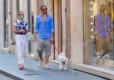 Editorial picture of Eleonora Abbagnato and Federico Balzaretti out and about, Rome, Italy - 06 Jul 2020