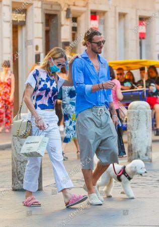 Editorial photo of Eleonora Abbagnato and Federico Balzaretti out and about, Rome, Italy - 06 Jul 2020