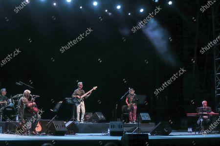 Editorial image of Francesco Guccini and Neri Marco in concert, Cavea del Parco della Musica, Rome, Italy - 20 Jul 2020