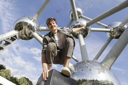 Stock Photo of Belgian DJ and musician Henri PFR poses at the Atomium ahead of a concert in Brussels, Monday 20 July 2020.