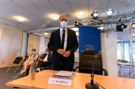 Editorial photo of Christopher Baldelli hearing by the CSA for the presidency of France Television, Paris, France - 21 Jul 2020