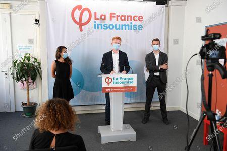 Clemence Guette, Adrian Quatennens and Ugo Bernalicis