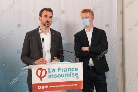Editorial image of 'La France Insoumise' press conference, Paris, France - 20 Jul 2020