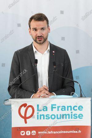 Editorial picture of 'La France Insoumise' press conference, Paris, France - 20 Jul 2020