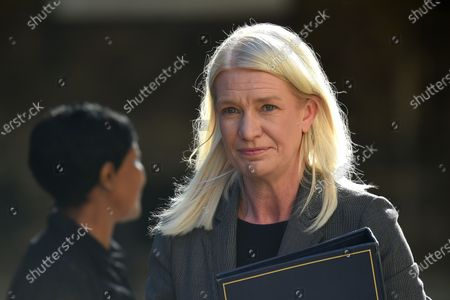 Amanda Milling Minister without Portfolio arrives for a Cabinet Meeting at The Foreign Office