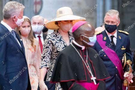 Editorial image of Brussels Royals National Day Te Deum, Brussels, Belgium - 21 Jul 2020