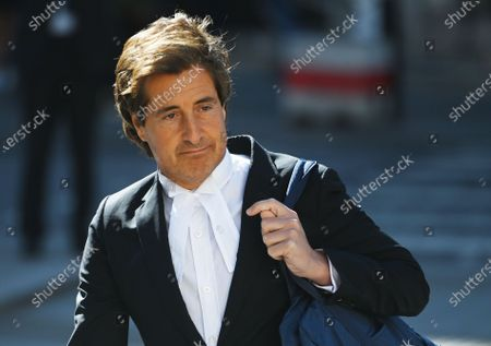 Barrister, David Sherborne arrives to the Royal Courts of Justice in London, Britain, 21 July 2020. US actor Johnny Depp is suing The Sun's newspaper publisher News Group Newspapers (NGN) over claims he abused his ex-wife, US actress Amber Heard, reports state.