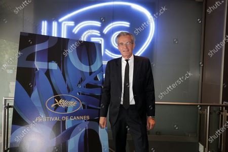 Editorial photo of Pierre Lescure and Thierry Fremaux, General Delegate of the Cannes Film Festival pose during official Selection 2020 at UGC Normandie, Paris, France - 03 Jun 2020