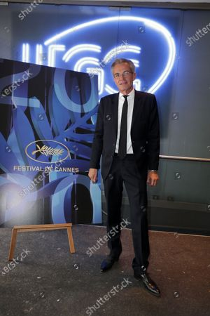 The Canal plus Journalist, Laurent Weil poses during official Selection 2020 at UGC Normandie on Champs Elysees