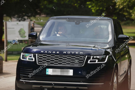 Princess Beatrice and Sarah Ferguson Duchess of York leave Royal Lodge, Windsor prior to her wedding