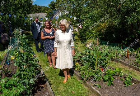 Camilla Duchess of Cornwall visits volunteers from the local area and the Cornwall Community Foundation of which The Duchess is Patron at Treverbyn Community Hall, St Austell