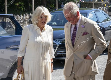 Britain's Prince Charles and Camilla, the Duchess of Cornwall visit Treverbyn Community Hall, in St Austell, south west England