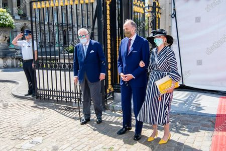 Prince Lorenz, Princess Astrid and Prince Laurent attending Belgian National Day 2020 in Brussels, Belgium.
