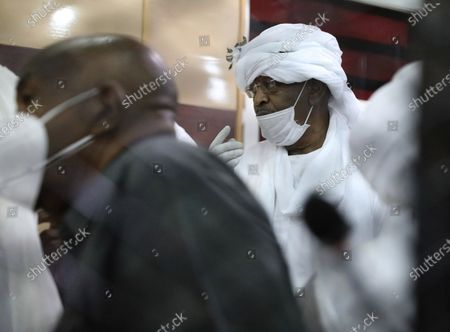Stock Image of Former Sudanese vice president Bakri Hassan Saleh is behind bars during the trial of ousted Sudanese president Omar al-Bashir and over two dozen top officials in his government, in Khartoum, Sudan, . The 76-year-old al-Bashir has been jailed in Khartoum since his ouster, facing several separate trials related to his rule and the uprising that helped oust him. Al-Bashir is also wanted by the International Criminal Court on charges of war crimes and genocide linked to the Darfur conflict in the 2000s
