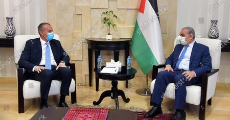Editorial photo of Palestinian Prime Minister Mohammad Ishtayeh, meets with Nikolay Mladenov, United Nations Special Coordinator for the Middle East Peace Process, Ramallah, West Bank, Palestinian Territory - 21 Jul 2020