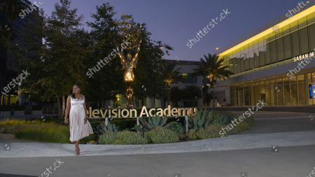 Stock Image of Pat Harvey hosts the 2020 Los Angeles Area Emmy Awards, which was pre-recorded at the Television Academy campus in North Hollywood, CA, and streamed on Emmys.com on