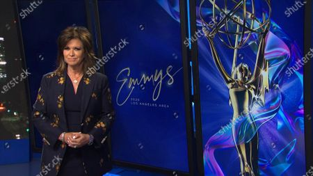Stock Image of Colleen Williams presents the Los Angeles Area Emmy award for Culture/History at the 2020 Los Angeles Area Emmy Awards which streamed on Emmys.com on